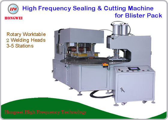 2 Welding Head High Frequency Blister Packing Machine Rotary Worktable 12 Month Warranty